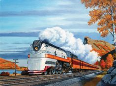 Hiawatha in the Mississippi Palisades - Milwaukee Road-Historic Rail