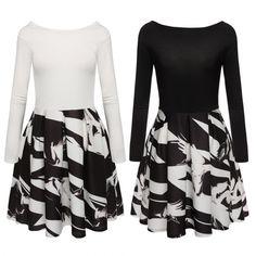I like this, how do you think? Buy here: http://www.wholesalebuying.com/product/finejo-women-fashion-casual-slash-neck-long-sleeve-print-pleated-mini-dress-187552?utm_source=pin&utm_medium=cpc&utm_campaign=ZYWB90