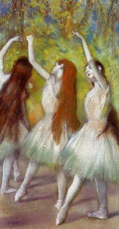 "Edgar Degas ""Dancers in Green"""