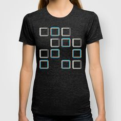 Impossible shapes alternating pattern. T-shirt. #GeekChick #Geeky #Art #Impossible #Geometry
