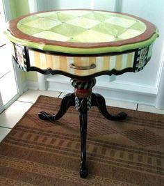 Painted Table Whimsical  Table Painted Wood. Tanya detail harga dan ukuran 👇 CP📞 WA: +6285694711553 BBM: D39018CB