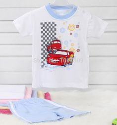 0-2 Years-Old Baby Boys Clothing Set Short Sleeve Wear Boys Set Baby Boy Summer Wear Baby Clothes in 100% Cotton Jersey