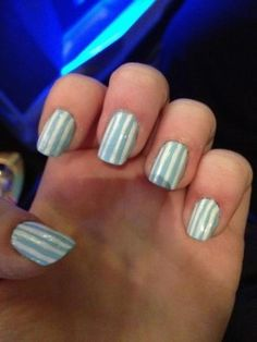These are very cute, and easy. Take them into your local nail salon and they will do these easily and very neatly!!