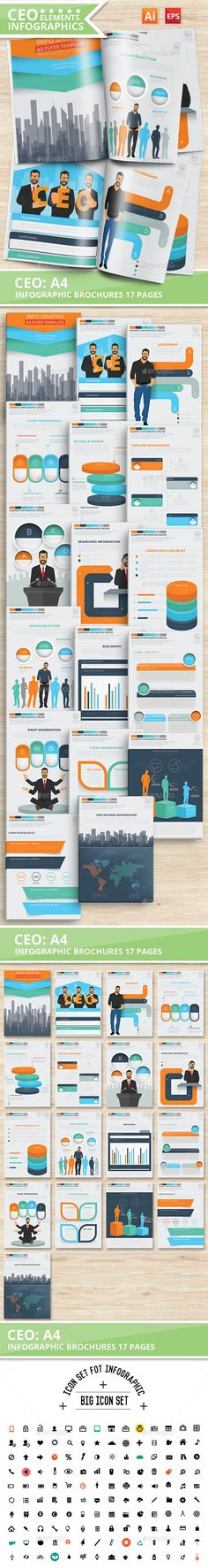 17 Pages Info Graphic Elements Design | Info graphics, Graphics ...