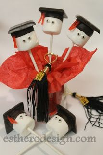 Easy Graduation Marshmallow Pops