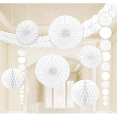 Classy Damask Party Decorating Kit, White, Paper, Pack of Complete that theme setting for your celebration with our 9 piece White Damask Wedding Decorating Kit. Tissue Paper Decorations, White Party Decorations, Tissue Paper Garlands, Wedding Decorations, Hanging Decorations, Wedding Ideas, Damask Party, Damask Wedding, Damask Decor