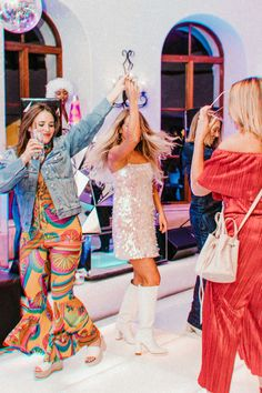 Our Wedding Welcome Party — Kelly Fiance Creative Mamma Mia, Bachelorette Party Themes, 21st Party Themes, Disco Theme Parties, 60s Party, Geek Party, Sofia Party, Party Time, Costume Party Themes