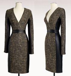 tweed & leather - by j.mendel