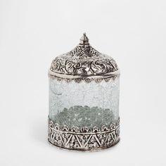 GLASS AND METAL JAR - Accessories - Bathroom | Zara Home Jordan
