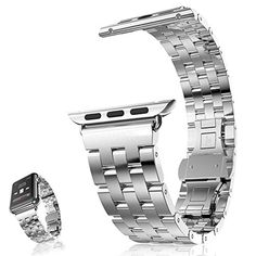 Apple Watch Band, AWStech New 42mm Stainless Steel Replacement Strap Double Button Metal Clasp Classic iWatch Wristband for Apple Watch All Models - Silver https://www.carrywatches.com/product/apple-watch-band-awstech-new-42mm-stainless-steel-replacement-strap-double-button-metal-clasp-classic-iwatch-wristband-for-apple-watch-all-models-silver/ Apple Watch Band, AWStech New 42mm Stainless...