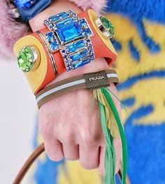 Fashion & Lifestyle: Prada Bracelets... Spring 2014 Womenswear