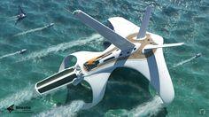 Birostis Hydrofoil Clipper by Diego Gonzalez Cortes