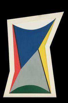 Pintura Madi A-3 - Gyula Kosice MNBA Arte Madi, American Art, Symbols, Enamel, Geometric Art, Abstract Art, Sculpture, African Artwork, Geometric Drawing