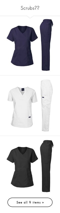 """""""Scrubs👚👖"""" by princessraegann ❤ liked on Polyvore featuring scrubs, pants, green pants, green trousers, doctors, hospital, doctor, blue trousers and blue pants"""