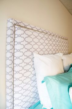 DIY Headboard Ideas - DIY Fabric Headboard - Easy and Cheap Do It Yourself Headboards - Upholstered, Wooden, Fabric Tufted, Rustic Pallet, Projects With Lights, Storage and More Step by Step Tutorials http://diyjoy.com/diy-headboards