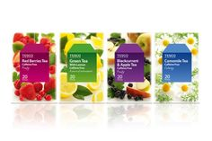 Read more: https://www.luerzersarchive.com/en/magazine/print-detail/tesco-46959.html Tesco Packaging for fruit & herbal teas. Tags: Tesco,R Design, London