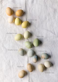 FYI: Dyeing Easter eggs with TEAS!