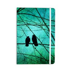 "Robin Dickinson ""Smitten"" Blue Teal Everything Notebook"