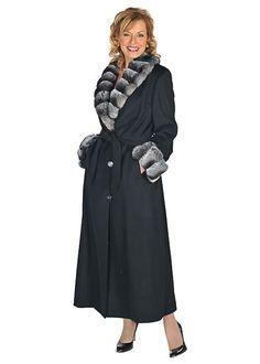 Madison Avenue Mall Womens Cashmere Coat with Fur Collar & Cuffs Chinchilla 14 White Fur Coat, Fox Fur Coat, Chinchilla Coat, Coat Outfit, Fur Clothing, Cashmere Coat, Collar And Cuff, Coats For Women, Size 12
