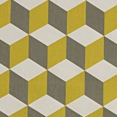 Cube Oilcloth in Saffron Gloss finish on a woven cotton backing Width Approximately 135 cms Vertical Pattern Repeat 16 0 cm Horizontal…