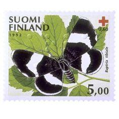 Perhosia - Nunnamittari postimerkki 5 markka - Suomalaiset postimerkit v. 1856 - 2014