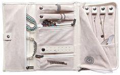 Amazon.com: Vegan Leather Travel Jewelry Case - Jewelry Organizer by Case Elegance: Home & Kitchen
