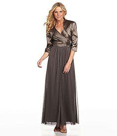 KM Collections Woman Bolero Jacket Dress #Dillards  (size 24, $200)