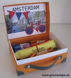 Voucher city break Source by Craft Gifts, Diy Gifts, Diy Birthday Gifts For Him, Wrapping Gift, Little Box, Diy Presents, Explosion Box, Woodland Party, City Break