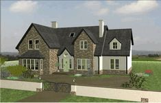 Dormer House, Dormer Bungalow, House Front, My House, House Designs Ireland, Kerala Houses, Two Storey House, Nice Houses, Sims 4 Houses