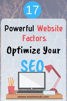 SEO Marketing Startups 17 Powerful Website Factors to Optimize Your SEO Seo Marketing, Content Marketing, Digital Marketing, Affiliate Marketing, Marketing Websites, Marketing Ideas, Internet Marketing, Media Marketing, Online Marketing