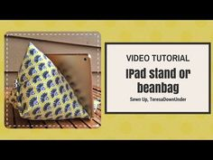 This iPad stand can also be made in plain fabric. Video: How to make an iPad stand Or you can make it with the leg of a pair of jeans: [youtube Materials 12 charm squares  (5 inch charm squares) 1 …
