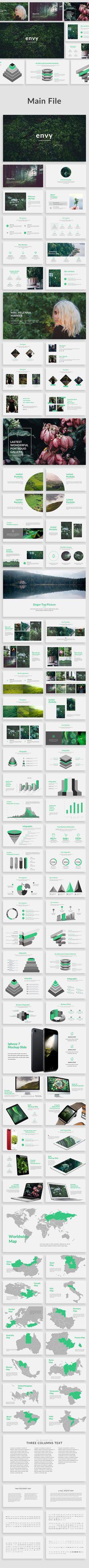 Envy - Creative Google Slide Template - Google Slides Presentation Templates