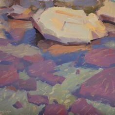 Carol Marine's Painting a Day: Water and Rocks I, II & III