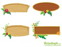 BAMBOO FRAME SET | VectorJungle - Free Vector Art, Vector Graphics and Backgrounds