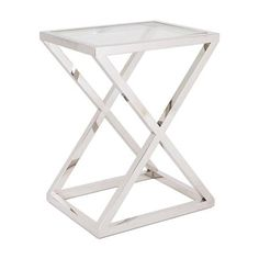 Nico Stainless Steel Side Table