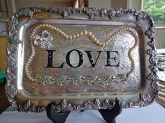 Vintage Decorated Silver Plated Tray by PipersEmporium on Etsy, $35.00