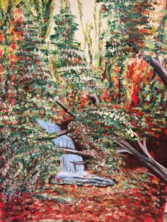 Lori Christensen Painted these French Autumn Woods from my YouTube channel tutorial, and sent them to me with Happy Birthday wishes today.  Lovely. Thanks so much Lori..