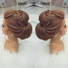 Likes, 35 Comments - Professional Hairstylist ) ( o. - - Likes, 35 Comments - Professional Hairstylist ) ( o - Formal Hairstyles, Bride Hairstyles, Wedding Hair And Makeup, Hair Makeup, Bridal Hair Inspiration, Hair Up Styles, Prom Hair Updo, Pinterest Hair, Bridesmaid Hair