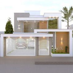 Exterior Facade House 57 Ideas For 2019 Modern House Facades, Modern Architecture House, Modern House Plans, Architecture Design, House Gate Design, Bungalow House Design, House Front Design, Exterior House Colors, Exterior Design