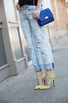 Fashionably Kay: Neon Pumps