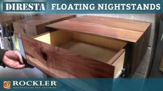 Jimmy DiResta builds a set of floating nightstands. These nightstands mount directly to the wall to make them look like they are floating. Jimmy used walnut ...