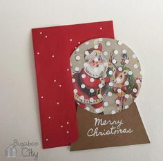 Vintage Snow Globe Handmade Card   Send the most unique DIY Christmas cards this year by making these awesome snow globe cards!
