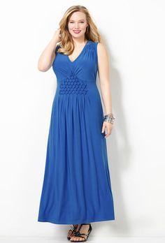 SLVLSS SOLID PINEAPPLE MAXI DRESS, Blue, large