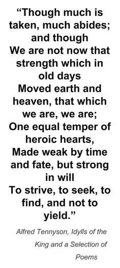 Last lines of Tennyson's Ulysses