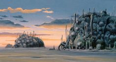Image result for nausicaa of the valley of the wind landscape