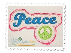 Peace Distressed Applique - 3 Sizes! | Words and Phrases | Machine Embroidery Designs | SWAKembroidery.com Katelyn's Kreative Stitches