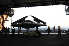 X-47 Going out the Hangar