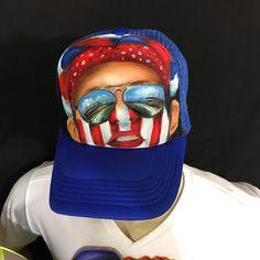 Nuevo y espectacular diseño de congo pide el tuyo 3003436146 Painted Hats, Hand Painted, Beret, Caps Hats, Projects To Try, Baseball Hats, Congo, Halloween, Ideas Creativas