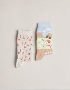 Pack of farm pattern socks