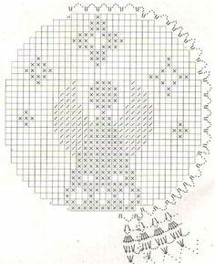 Filet Crochet, Crochet Crafts, Plastic Canvas, Christmas Decorations, Diagram, Beads, Diy, Crocheting, Xmas